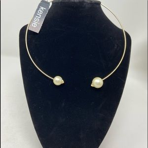 Kenzie golden tone  faux pearl necklace